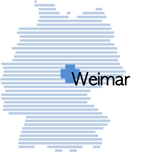 Our Forwarding Company is located in the middle of Germany in Weimar