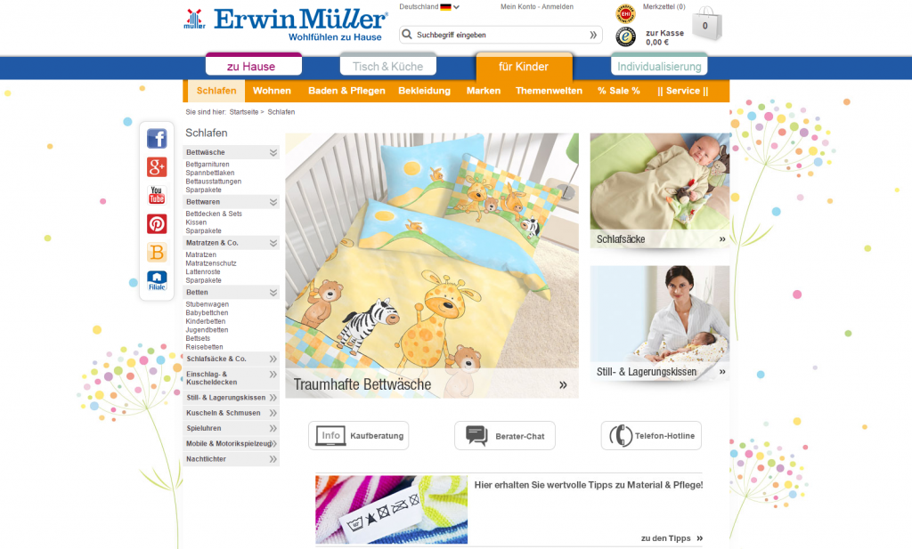 Erwin Müller – children's beddings