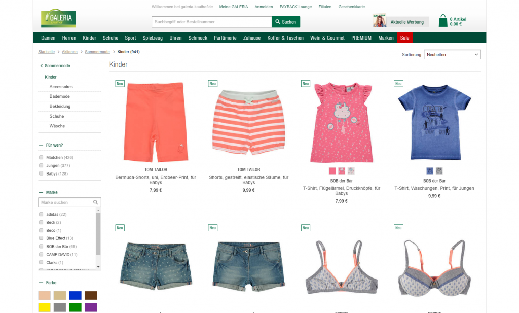 GALERIA Kaufhof – children's summer fashion