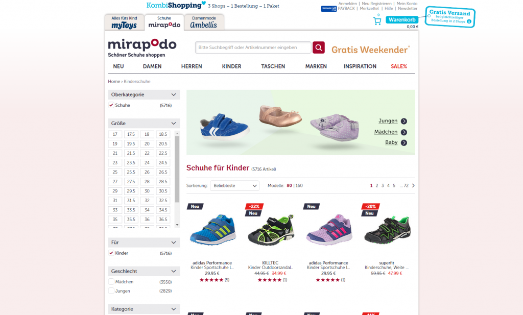 Mirapodo – kid's shoes