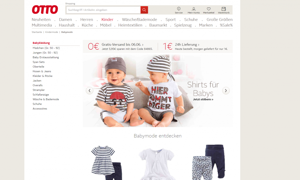OTTO – baby clothing
