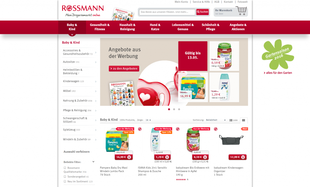 Rossmann – baby food