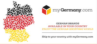 This button leads your international customers to myGermany Homepage