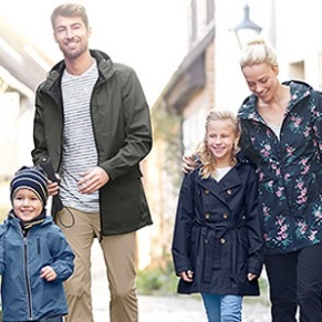 Outdoor rainy wear for the whole family by Tchibo