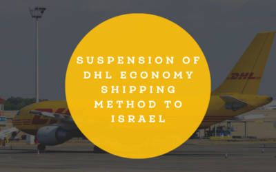 Suspension of DHL Economy Shipping method to Israel